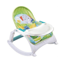 Right Starts Newborn to Toddler Music Portable Rocker CC9916D - Green Elephant