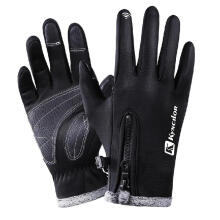 Farfi Cycling Skiing Winter Warm Waterproof Full Finger Unisex Touch Screen Gloves