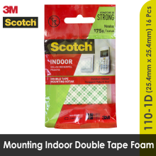 3M Mounting Double Tape Kotak Square Size 25.4 mm x 25.4 mm 110 - 1D White