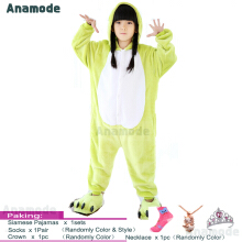 Anamode Size 100~140 Kids Cartoon Clothes Parent-Child Homewear Siamese Pajamas Suit -Frog