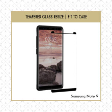 CASA Tempered Glass Resize for Samsung Note 9 2018 [Fit to Case] Black