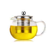 [OUTAD] High Temperature Resistance Clear Borosilicate Glass Teapot Tea Cup Teapot 1   500ml