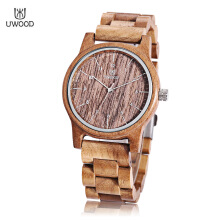 UWOOD UW - 1007 Men Quartz Wooden Case Arabic Numerals Scale Wristwatch