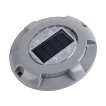 baellerry 1pcs Aluminum Solar 4-LED Outdoor Road Driveway Dock Path Ground Light Lamp White