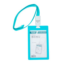 BANTEX ID Card Holder 8865-23 Lanyard / Portrait (54 x 90 mm) - Sky blue
