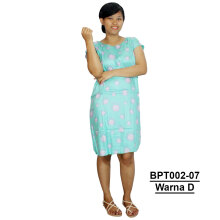 Batik Alhadi - (BPT002-07) - Dress Midi - Motif Bunga - All Size