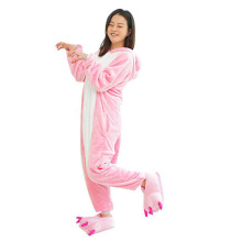 Anamode Flannel Cartoon Animal Siamese Pajamas Winter Long-sleeved Home Clothes -Dinosaur -
