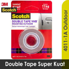 3M Scotch Double Tape VHB Mounting Outdoor 4011-1A 21 mm x 1 m Red