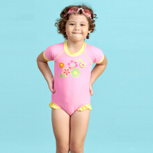LEE VIERRA Soft Girl Flower Leotard Baju Renang Anak Leotard