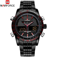 NAVIFORCE Men Watch Date Week Sport Watches Military Army Business Leather Band Quartz Male Clock 9024