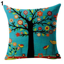 Farfi Square Throw Pillow Cover Case Sofa Home Decor Waist Cushion Linen Pillowcase