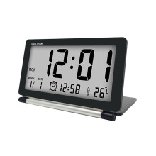 JDWonderfulHouse Loskii DC-11 Electronic Travel Alarm Clock Folding Desk Clock With Temperature Date Time Calendar