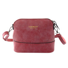 [LESHP]PU Shell Bag Women Small Female Messenger Ladies Crossbody Red