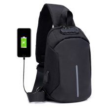 DXYIZU fashion men's shoulder bag USB charging anti-theft diagonal package