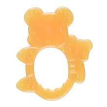 [kingstore] Baby Teether Teething Toy BPA Free Soft Silicone Teether Teeth Soother Orange