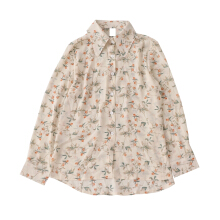 YU MEIL Spring new lapel loose wild long-sleeved shirt women Flower lychee F