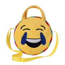 [LESHP]Round 10 Face Emotion Boy Girls Kids Handbag Shoulder Bag Lovely Crossbody Yellow
