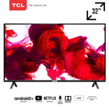 TCL 32 inch Google certified Smart HD TV with AI & Dolby Sound (model 32A3) Black