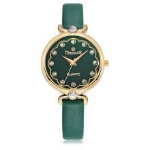 TIMEZONE Women's Leather Strap Quartz Watch 0979