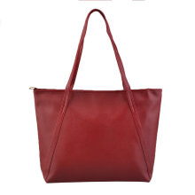 [LESHP]Fashion Women Shoulder Bag Casual PU Leather Large Capacity Handbags Female Rose Red