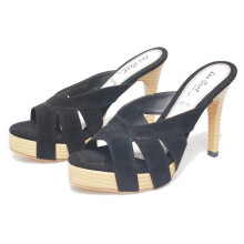 SANDAL HIGH HEELS / WEDGES KASUAL WANITA - BDM 679
