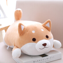 Jantens 36cm cute fat sesame dog plush toy filled soft kawaii animal cartoon pillow cute children gift