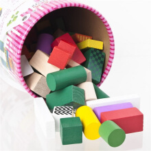 COZIME Wooden Block Toys Wooden Educational Toy Micro-sized Building Block 70 pcs Multicolor