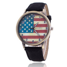 PEKY New Fashion Jeans  USA Flag Quartz Watches Unisex Casual Wrist Watch Relogio Feminino Christmas Gifts
