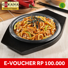 Gokana Ramen & Teppan - Voucher Value Rp 100.000