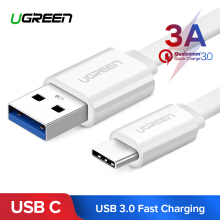 UGREEN Original USB Type C Kabel for Xiaomi pocophone F1, xiaomi 5 puls, Xiaomi mi 6X, Samsung Galaxy S9 Note 8 9 USB 3.0 Type-C USB C 2.4A Fast Charging Data Cable 0.95meter