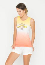 Surfer Girl Summer Two Tone Tank 17NVRTSLS01YLC Yellow XXS
