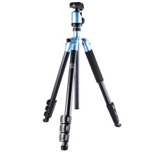 FotoPro C-40i 4-Sections Aluminum Tripod with Ball Head - Blue Blue - Yellow