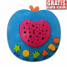 Kaptenstore Mainan Edukasi Anak APPLE QURAN Apple Learning Quran 6 tombol Multicolor