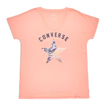 CONVERSE Gradient Star Fill Femme Tee - Pale Coral