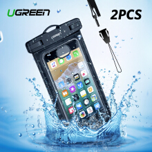 UGREEN 2Pack Dry Bag Waterproof Handphone Bag Watertight Case Touch Screen Transparent Pouch For iPhone Xiaomi Redmi Samsung ASUS LG OPPO VIVO Smartphone