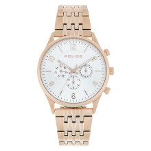 Police Grand PL.14924JSR/04M Chronograph Men White Dial Rose Gold Stainless Steel Strap [PL.14924JSR/04M]