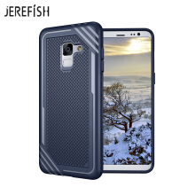 JEREFISH Samsung Galaxy A8 2018 Shockproof Phone Case Rugged Hybrid Hard PC Soft Silicone Full Body Protective Phone Cover