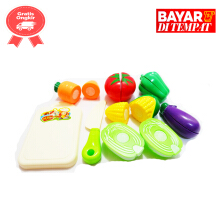 Tomindo Mainan Buah Potong Happy Fruit Cut A030-1 / 1A - multicolour