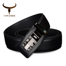 COWATHER Automatic Buckle cow Genuine Leather men Belts strap for male Fashion casual Brand CZ024
