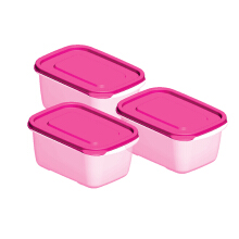 TECHNOPLAST Azumi Bento Medium Tall 850ml Set of 3 - Pink