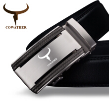 COWATHER new 100% cow genuine leather belts for men high quality alloy automatic buckle belt