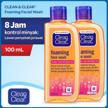 CLEAN & CLEAR Essentials Foaming Facial Wash 100ml - Bundling 2pcs