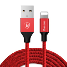 Baseus Lightning Data/Charging Cable for iPhone 1.2m, Red