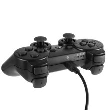 [OUTAD] Classic Gaming Controller Console Gamepad for Playstation Sony PS3 Black