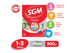 SGM Eksplor 1+ Susu Plain Box - 900gr