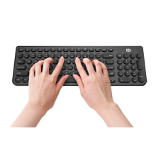 Bakeey Ultra Silent Thin 2.4GHz Round Keycap Wireless Keyboard and Mouse Set Kit for Desktop Notebook