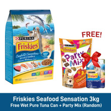Friskies Seafood Sensation 3kg [Free Wet Pure Tuna Can + Party Mix]