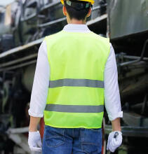 Ranfeng Reflective Vest Traffic Emergency Tools Green One Size