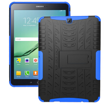 RockWolf Samsung Tab S2 9.7 inch / T810 case TPU anti-fall colorful back clip bracket flat shell