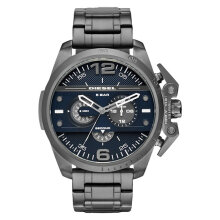 Diesel DZ4398 Ironside Chronograph Men Blue Dial Grey Stainless Steel [DZ4398]